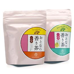 お茶の緑峰園 大人の香り茶 バラ紅茶・バラ煎茶