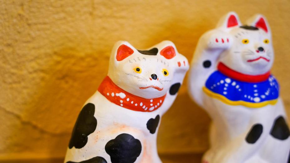 縁起物として人気の県内最古の土人形「帖佐人形」