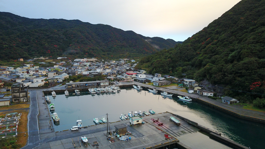 屋久島-首折れ鯖の水揚げで有名な一湊漁港